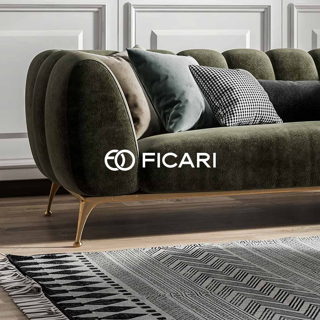 Ficari brand image of green couch